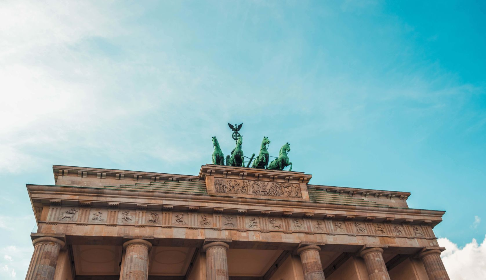 the Brandenburg Gate in Berlin, Germany